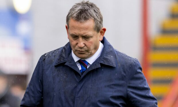 Caley Thistle head coach Billy Dodds at full-time.