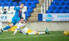 Billy McKay gives Caley Thistle the lead against Morton.