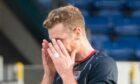 Jordan White rues his missed penalty against Livingston.