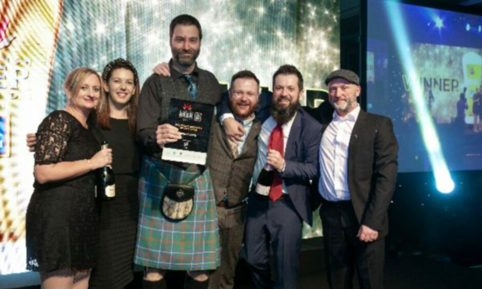 The Fierce Beer team at the awards.