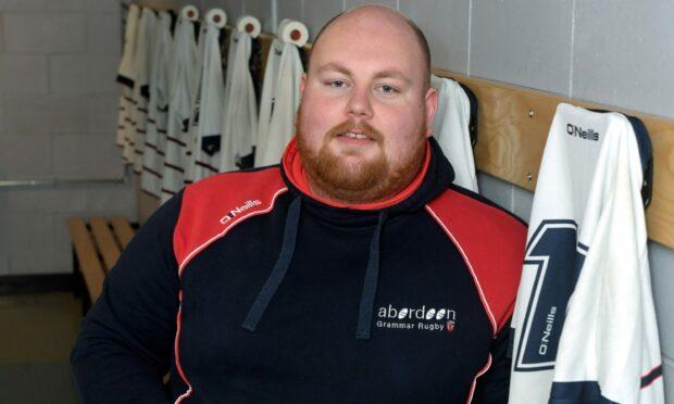 Aberdeen Grammar team manager John Stewart.