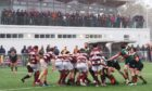 Action from Highland's 40-10 win over Watsonians.