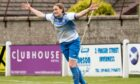 Tracey-Anne Montgomery celebrates after putting Sutherland 3-0 ahead
