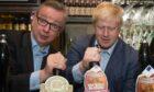 Michael Gove, Boris Johnson (centre)
