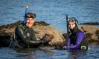 Keith Broomfield and Gayle Ritchie go snorkelling in the East Neuk. Picture: Steve Brown.