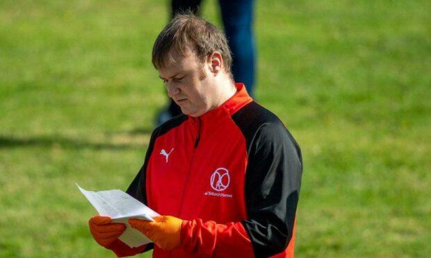 Nairn County reserves coach Stuart Finnie.