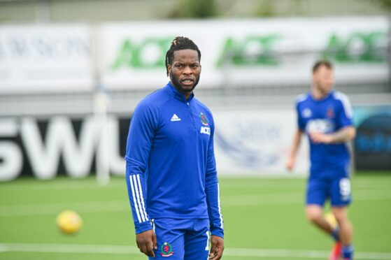 Cove Rangers forward Ola Adeyemo.