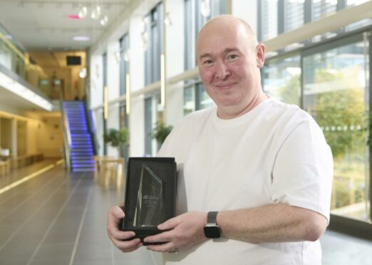 Andrew Jupp with his award.