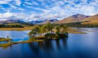 Loch Tulla in Argyll. Visit Argyll in Scotland with this map