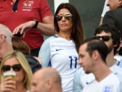 Rebekah Vardy, wife of England's Jamie Vardy, in the stands during Euro 2016