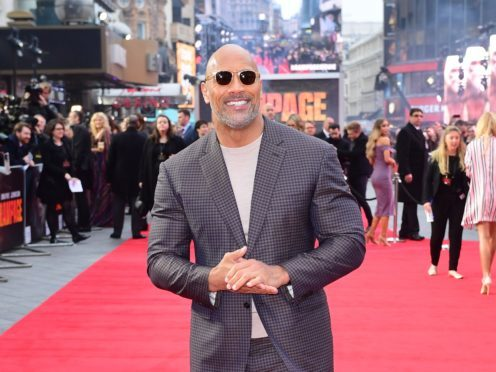 Dwayne Johnson is celebrating after his latest film, Rampage, became his most successful ever in China (Ian West/PA)