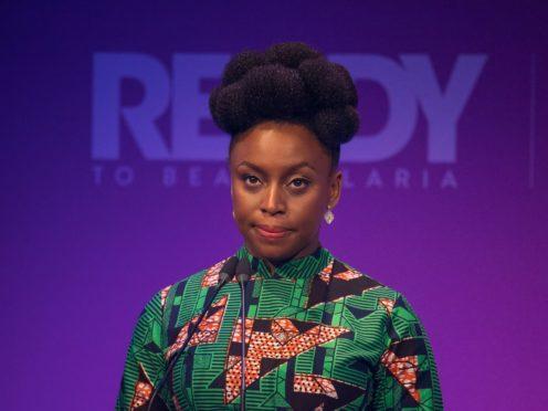 Chimamanda Ngozi Adichie said she was honoured to receive the award (Dominic Lipinski/PA)