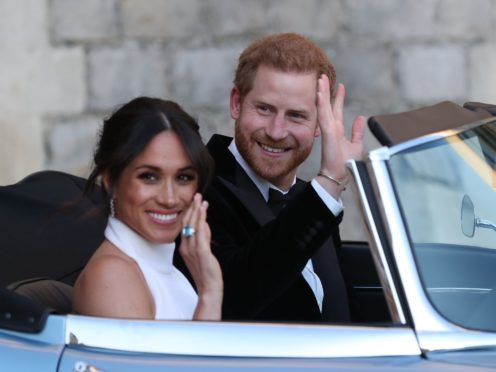 The Duke and Duchess of Sussex, Meghan Markle and Prince Harry were married in May (Steve Parsons/PA)