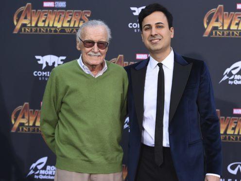 Stan Lee and Keya Morgan (Jordan Strauss/Invision/AP)