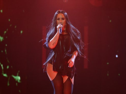 Demi Lovato on stage at the SSE Hydro in Glasgow (PA)