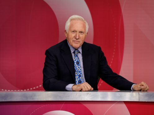 David Dimbleby, who has announced he will leave Question Time after 25 years (Richard Lewisohn/BBC)