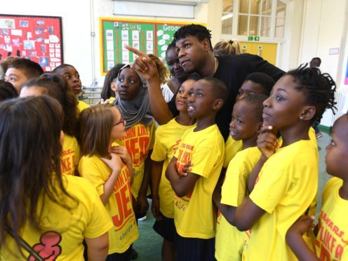John Boyega visits his old primary school (Doug Peters/PA)
