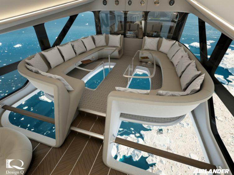 "Passengers will be able to enjoy ""horizon-to-horizon"" views on Airlander 10 (Hybrid Air Vehicles/PA)"