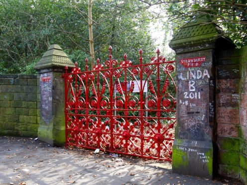 The gates of the former Strawberry Field children's home in Woolton, Liverpool (Peter Byrne/PA)