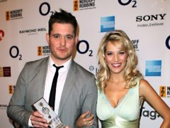 Michael Buble and his wife Luisana Lopilato have welcomed a third child (Sean Dempsey/PA)