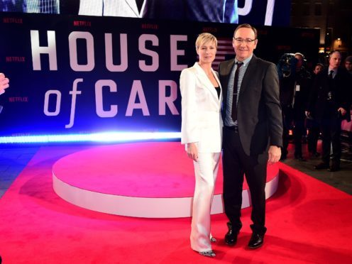 Robin Wright and Kevin Spacey attending the world premiere of House Of Cards (Ian West/PA)