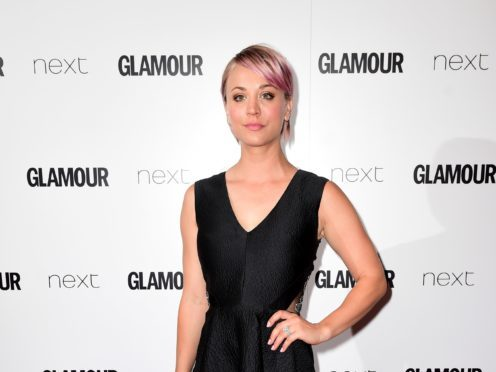 Kaley Cuoco revealed she underwent shoulder surgery while on her honeymoon (Ian West/PA Wire)