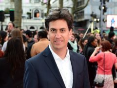Ed Miliband attending the Florence Foster Jenkins world premiere (Ian West/PA)