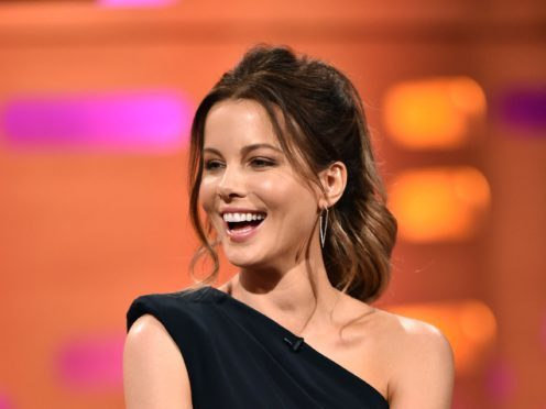Kate Beckinsale during the filming of the Graham Norton Show at the London Studios in London, to be aired on BBC1 on Friday Evening.