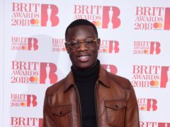 J Hus attending the Brit Awards 2018 Nominations event held at ITV Studios on Southbank, London (Ian West/PA Images)