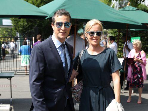 Bear and Shara Grylls on day 11 of the Wimbledon Championships (Jonathan Brady/PA)