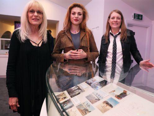Kurt Cobain's mother Wendy O'Connor, daughter Frances Bean Cobain and sister Kim Cobain (Brian Lawless/PA)