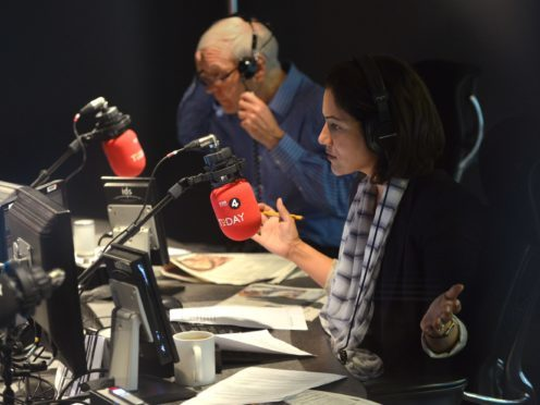 John Humphrys and Mishal Husain (Jeff Overs/BBC)