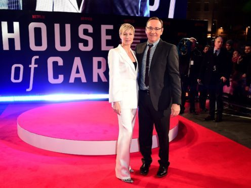 Robin Wright: 2,500 out of work if House Of Cards was cancelled over Spacey (Ian West/PA)