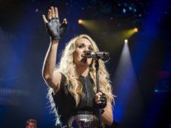Carrie Underwood has shown off her baby bump (David Jensen/PA)