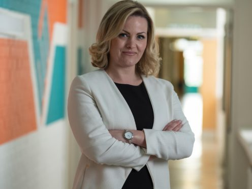Undated Channel 4 Handout Photo from Ackley Bridge. Pictured: JO JOYNER as Mandy Carter. See PA Feature TV Ackley Bridge. Picture Credit should read: PA Photo/Channel 4. WARNING: This picture must only be used to accompany PA Feature TV Ackley Bridge. WARNING: This picture may be used solely for Channel 4 programme publicity purposes in connection with the current broadcast of the programme(s) featured in the national and local press and listings. Not to be reproduced or redistributed for any use or in any medium not set out above (including the internet or other electronic form) without the prior written consent of Channel 4 Picture Publicity 020 7306 8685.