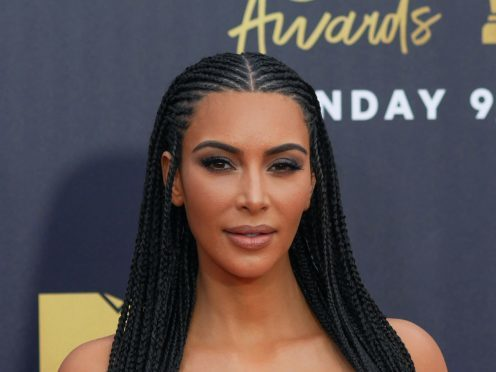 Kim Kardashian West was involved in a furious row with her sister Kourtney during the opening episode of Keeping Up With The Kardashians (Francis Specker/PA Wire)