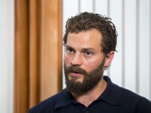 Jamie Dornan helped launch the Pancreatic Cancer charity NIPanC at the Mater Hospital in Belfast (Liam McBurney/PA)