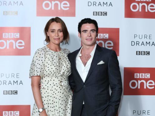 Keeley Hawes and Richard Madden attending a photo call for Bodyguard (Isabel Infantes/PA)