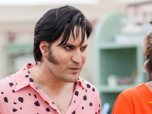 Noel Fielding's new 'KD Lang' hair has divided Bake Off viewers (Mark Bourdillon/Love Productions)