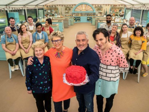 The new series of The Great British Bake Off will open with a reference to Prue Leith's winner spoiler last year. (Mark Bourdillon/Love Productions)