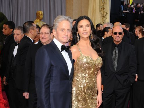 Catherine Zeta Jones wished husband Michael Douglas a happy birthday by sharing a homemade video (Ian West/PA)