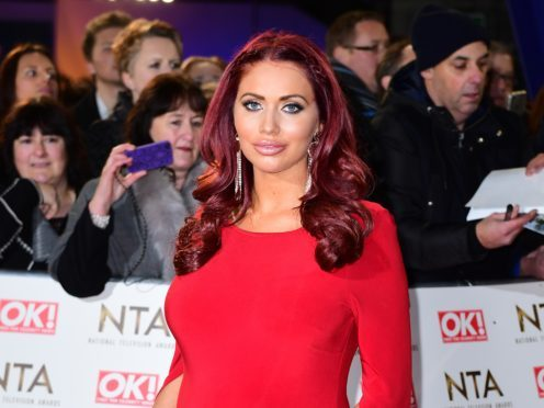 Amy Childs posted a picture of the sleeping tot (Ian West/PA)