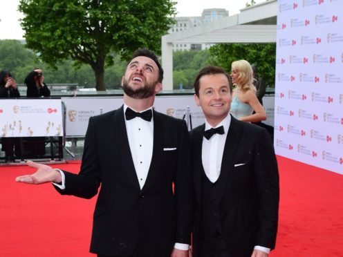 Ant McPartlin and Declan Donnelly at the Virgin TV British Academy Television Awards 2017 at London's Festival Hall (Ian West/PA)