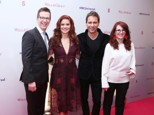 Sean Hayes, Debra Messing, Eric McCormack and Megan Mullally from the cast of Will & Grace (Isabel Infantes/PA)