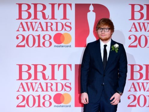Ed Sheeran nominated for BMI London Award for song of the year for third consecutive time. (Ian West/PA)