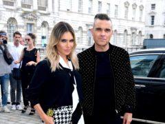 Robbie Williams and wife Ayda Field (Ian West/PA)