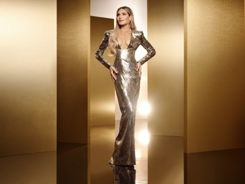 Ayda Field is set to make a joke about husband Robbie Williams' rapping abilities on The X Factor (Ray Burmiston/Thames/Syco/ITV)