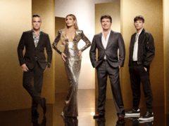 Judges Robbie Williams, Ayda Field, Simon Cowell and Louis Tomlinson (Ray Burmiston/Thames/Syco/ITV)