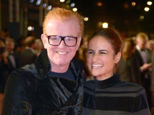 Chris Evans and wife Natasha Shishmanian (Anthony Devlin/PA)