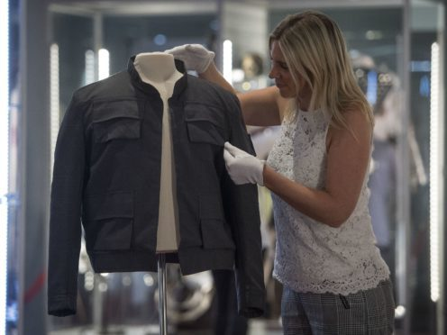 Han Solo's jacket, worn by Harrison Ford in Star Wars: The Empire Strikes Back, on display at the Prop Store film memorabilia exhibition (Victoria Jones/PA)